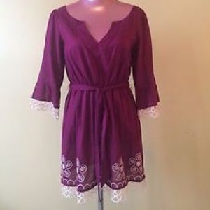 Anthropologie embroidered dress/ cover-up